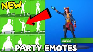 NEW FORTNITE PARTY ROYALE EMOTES