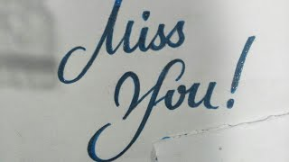 Fancy letters -Miss You Vector stock| calligraphy | How to write Miss you |RUA sign writing