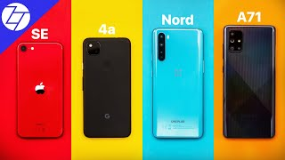 Apple iPhone SE (2020) vs Google Pixel 4a vs OnePlus Nord vs Samsung Galaxy A71 - BEST 2020 Budget Phone?