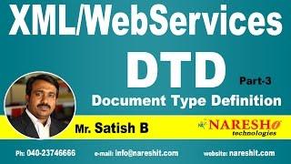 DTD (Document Type Definition) Part-3 | XML Tutorial | Mr. Satish B