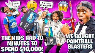 WE BOUGHT PAINTBALL BLASTERS & THE KIDS HAD 10 MINUTES TO SPEND $10,000!!!