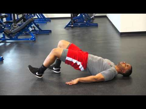 Glute Bridge Hamstring Walkout