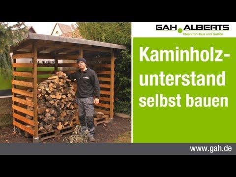 GAH-Alberts: Bau eines Kaminholzunterstands