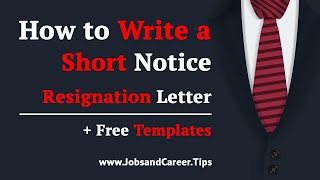 How to Write a Short Notice Resignation Letter in 2020 » Pro Tips + Examples