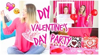 DIY Valentines Day Party | Photo Booth, Treats & Gift Bags!