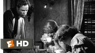 A Streetcar Named Desire (5/8) Movie CLIP - I'm the King Around Here (1951) HD