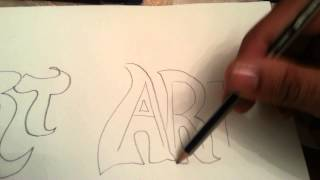 How to draw block letters, graffiti , bubble