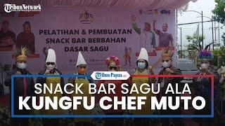 Chef Muto Dihadirkan dalam Peparnas XVI Papua untuk Membuat Snack Bar Sagu