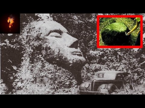 Giant Caucasian Head & Magnetic Statues Found In Guatemala?