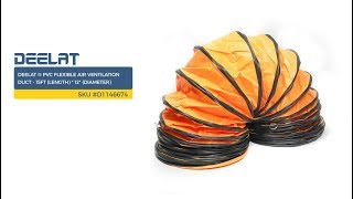 DEELAT ® PVC Flexible Air Ventilation Duct - 15ft (Length) * 12