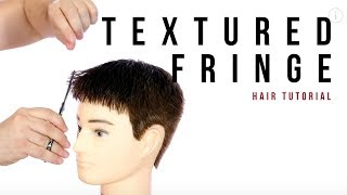Textured Fringe On Mens Hair - Haircut Tutorial - TheSalonGuy