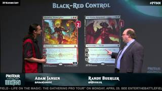 Pro Tour Shadows over Innistrad: Black Red Control with Adam Jansen