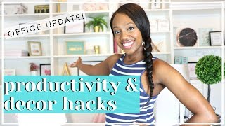 Updated Home Office Space 2019 | Productivity & Decor Hacks