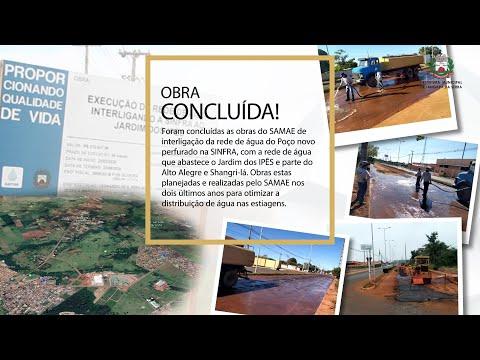 Concluída interligação da rede de água da Sinfra à região do Jd. dos Ipês