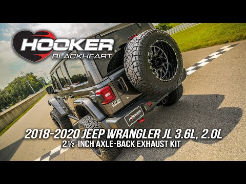 2018-2020 Jeep Wrangler JL 2.5in Axle-Back Exhaust Kits