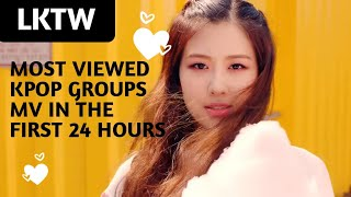 Most Viewed Kpop Groups MV In 24 Hours