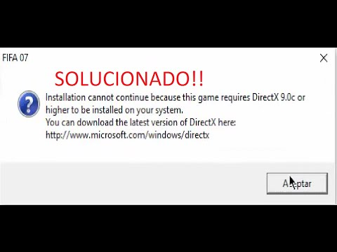 How to solve directx error on Fifa 07 installation - смотреть онлайн
