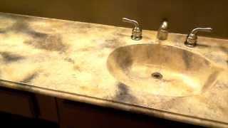 Faux Marble Bathroom Countertop