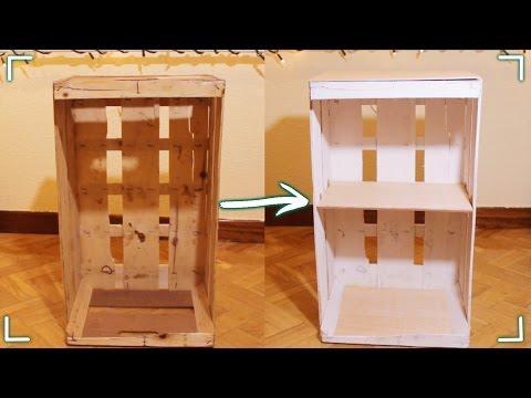 ¡Haz un mueble con una caja de fruta! #DIY