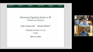 "Casey Crisman-Cox, ""Estimating Signaling Games in International Relations: Problems and Solutions"""