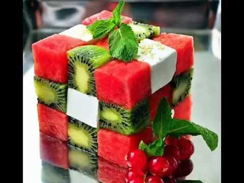 Легкий оригинальный салат Кубик рубика