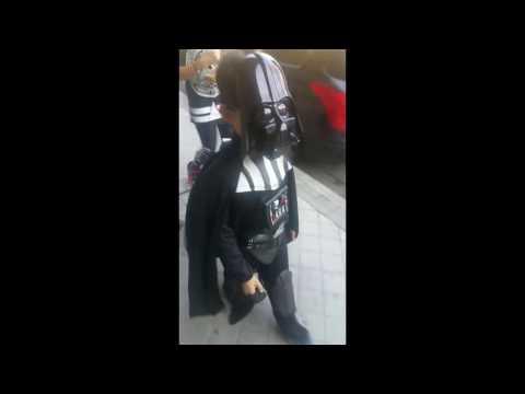 Darth Vader disfraz para niñas y niños
