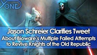Jason Schreier Clarifies Tweet About Bioware's Multiple Failed Attempts to Revive Star Wars KOTOR