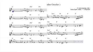 Nota Akor Eşlik - Ayrılık ( Fikrinden Geceler ) - C Instruments ( Mi )