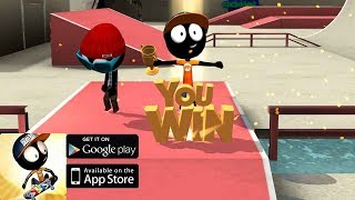 Stickman Skate Battle  - iOS/Android - Gameplay Video