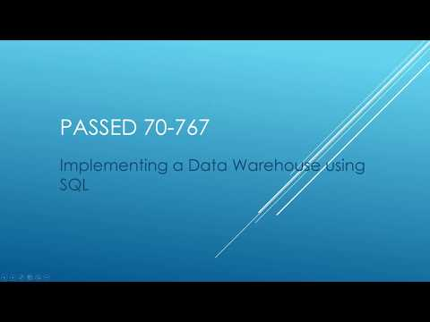 How I Passed 70-767 Certification - Implementing a Data ... - YouTube