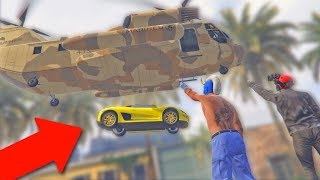 MOVING PEOPLE'S CARS ONTO ROOFTOPS! *HILARIOUS TROLLING!*   GTA 5 Funny Moments