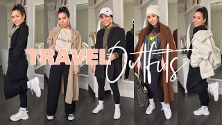 TRAVEL OUTFIT IDEAS   COMFY AND STYLISH AIRPLANE OUTFITS