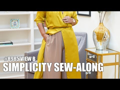 SIMPLICITY PATTERN #8985 SEW-ALONG: VIEW B PANTS