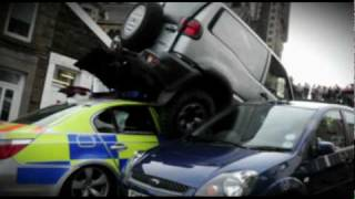 Traffic Cops - Crazy Mobile Phone Driver Rams Police Officer