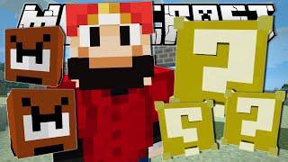 Minecraft | SUPER MARIO!! (Lucky Blocks, Goombas & More!) | One Command Creation