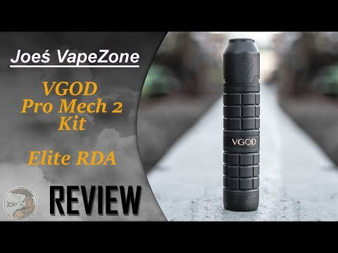 YouTube Video zu VGOD PRO Mech 2 Set Camo Edition mit Elite RDA 2.0 ml