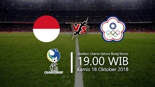 Jadwal Laga Indonesia Vs Chinese Taipei di AFC U-19, Kamis Pukul 19.00 WIB