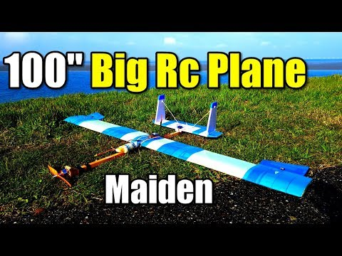 100\'\' Big Rc Plane Project EP1 First Maiden Test Flight of a Beginner FPV Airplane