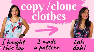 Make A Pattern From Your Favorite Tank. Pleated Neckline. Cloning Yourself Clothes.