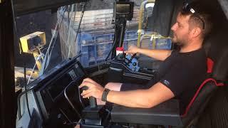 Cat 990F Wheel Loader Loading Coal-Operator View