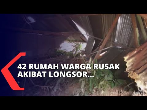 rumah warga rusak akibat longsor di kab simalungun sumatera utara