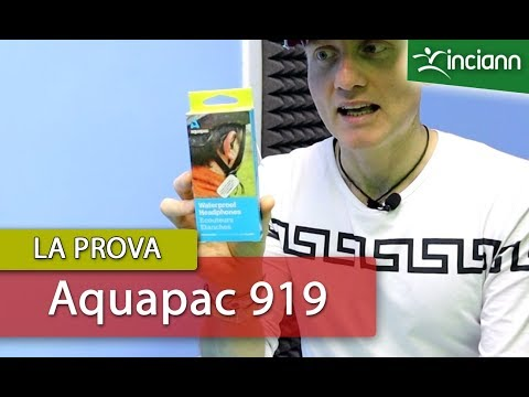 Cuffie impermeabili per mare e piscina. Test resistenza immersione auricolari Aquapac 919