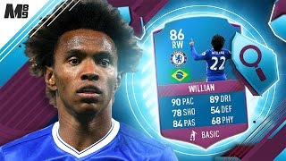 FIFA 17 SBC WILLIAN REVIEW | 86 WILLIAN | FIFA 17 ULTIMATE TEAM PLAYER REVIEW