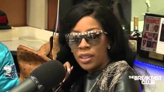K Michelle snapping on Angie Martinez on the Breakfast Club