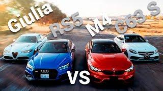 Giulia VS RS5 VS M4 VS C63 S comparativa deportivos europeos   Autocosmos