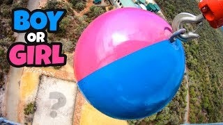 ATLAS STONE Vs. SPRAY PAINT = EPIC BABY GENDER REVEAL!