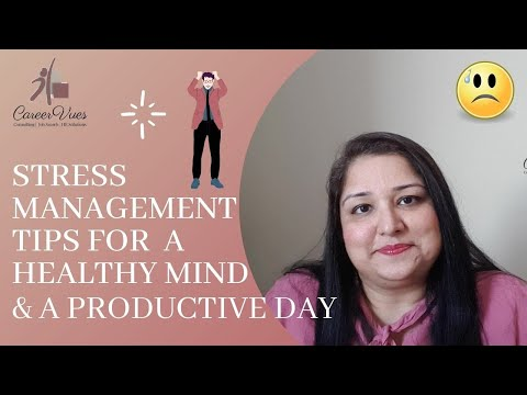 TIPS FOR STRESS MANAGEMENT - YouTube