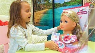 Настя хочет быть красивой как КУКЛА Беби Борн наряжается и красится For kids Children