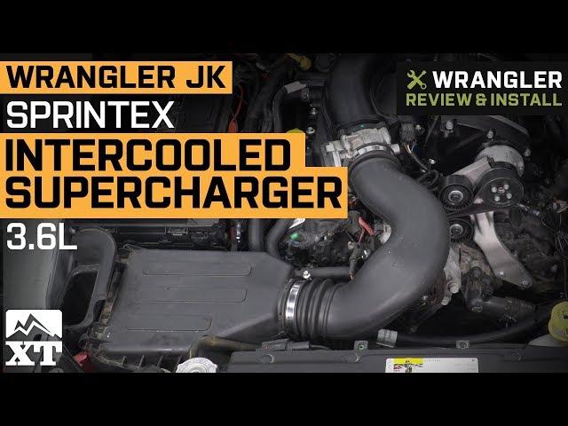 Sprintex Intercooled Supercharger Kit (12-16 3 6L Jeep Wrangler JK)