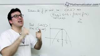 Vlastnosti funkce 8 - Monotonie funkce - kde je funkce rostoucí a klesající